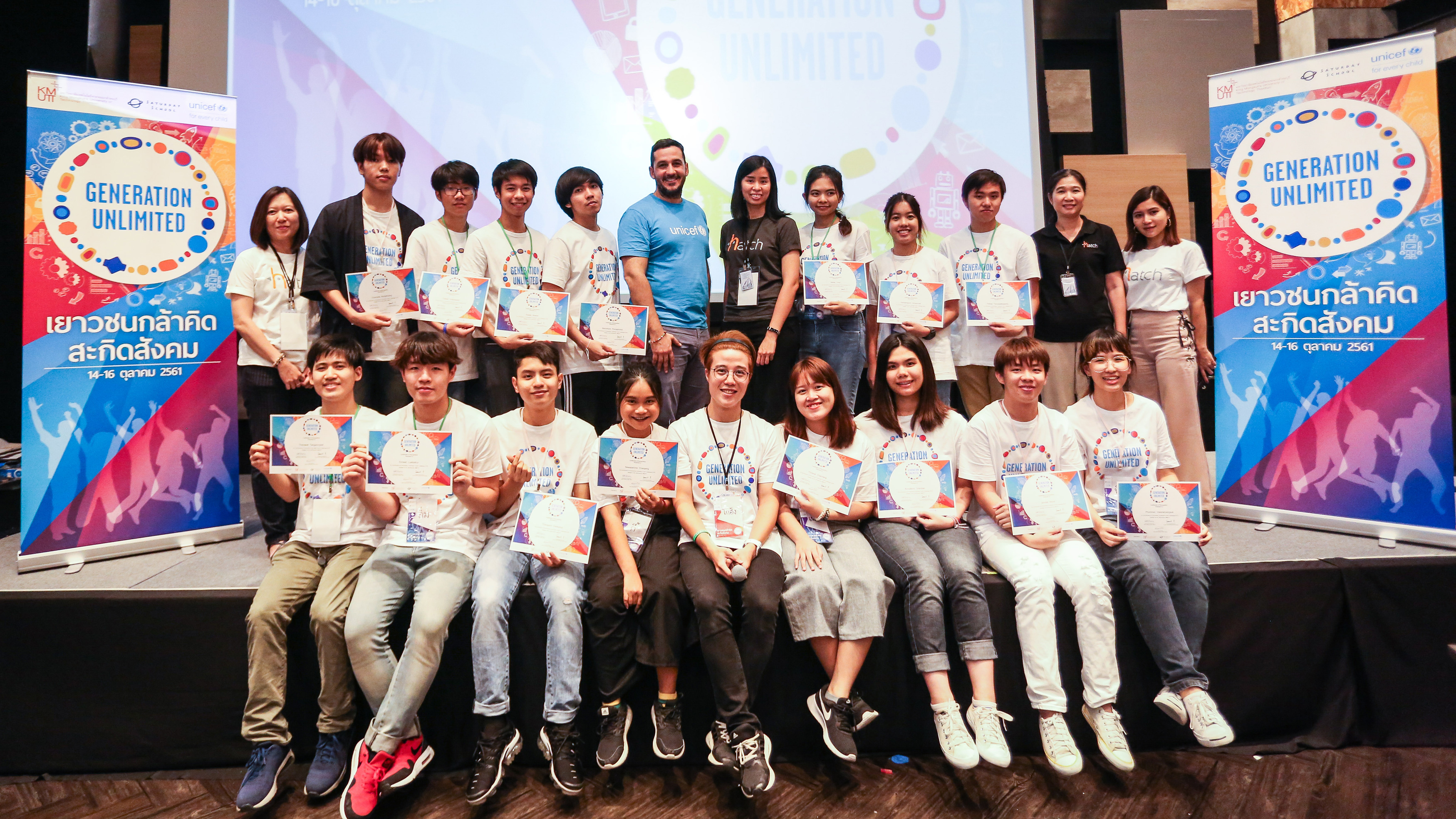 Participants of the Youth Challenge in Thailand pose for a group photo.