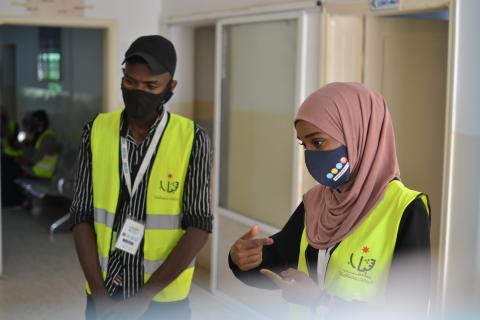 Young volunteers in Jordan during communtiy action