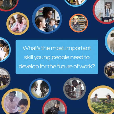 What's the most important skill young people need to develop for the future of work?