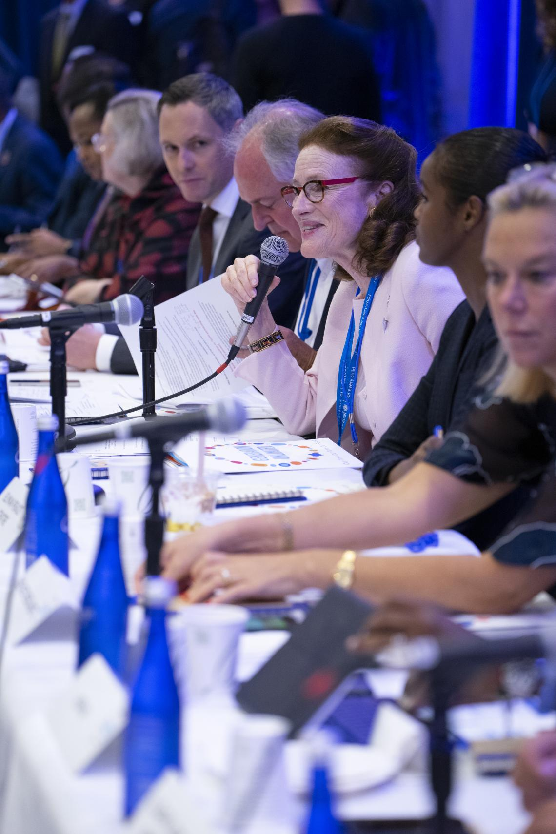 UNICEF Executive Director Henriette H. Fore speaks during the Third Global Board Meeting of Generation Unlimited on 23 September 2019 at UNICEF House in New York.