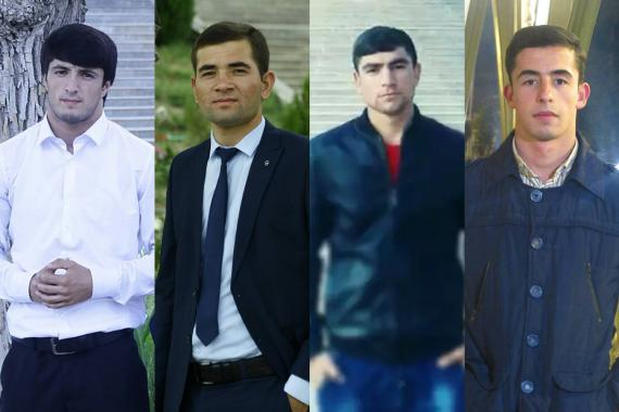 Photos of the four young men in the Payravon team.