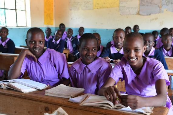 A UNICEF supported primary school within the Maasai community in the Kajiado County of Kenya is a protective environment where students learn skills, receive psychological support and information about prevention and sexual education.